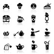 Icons set Cafe