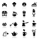 Fototapety Icons set Cafe