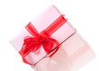 Cadeau sur fond blanc