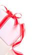 Cadeau de Noêl sur fond blanc