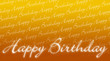 Geburtstagskarte - Happy Birthday Orange Gelb