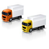 Vector truck icons set