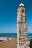 Sardinia, Italy: Castelsardo, bell tower of the old town