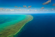 Aerial View of  the Great Barrier Reef Australia
