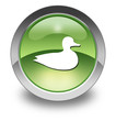 "Green Glossy Pictogram ""Duck"""