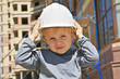 Child in hard hat
