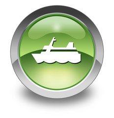 "Green Glossy Pictogram ""Cruise Liner"""