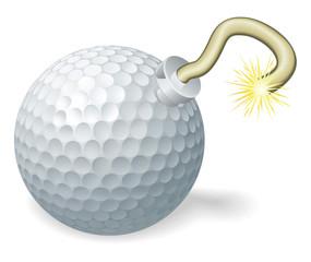 Golf ball bomb concept