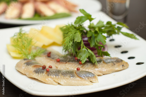 Herring appetizer - fillet with vegetables