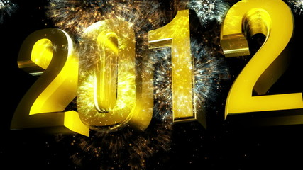 2012 new year golden color