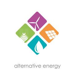 Logo alternative energy # Vector