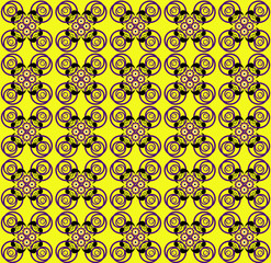 pattern with flower seamless texture