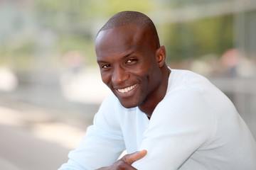 Portrait of handsome ethnic man
