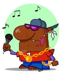 African American Rapper Dude Singing