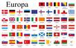 Länderflaggen Europa
