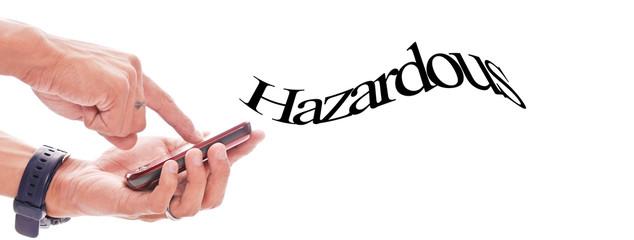 Cell Phone Emitting Hazardous Waves