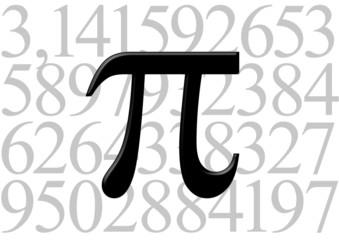 Simbolo Pi sobre su valor numérico