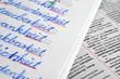 Kinder schreiben Schreibschrift in der Schule