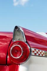 detail of red cabriolet vintage car