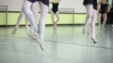 classic dancers exercising at school of ballet