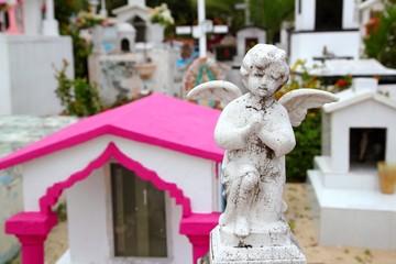 Caribbean cemetery catholic angel saints figures
