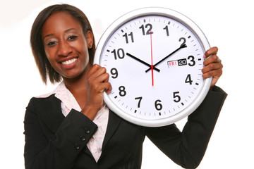 African Woman with Clock