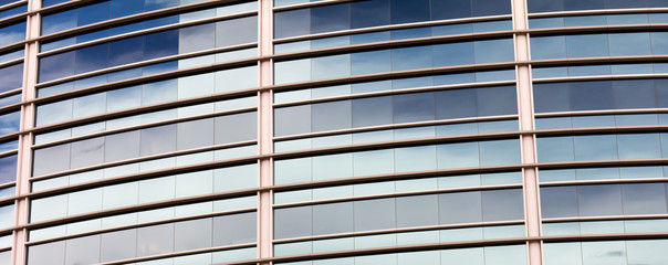 Reflection Pattern of the Sky on a Curved Building