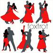 Foxtrot dancers silhouettes set - 33500059