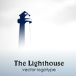Logo beacon in the fog # Vector