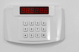 Small home or hotel wall safe with keypad