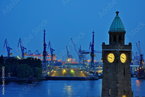 Leinwandbild Motiv Hamburger Hafen