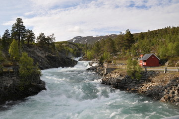 Flusslauf in Norwegen