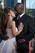 Modern attractive multi racial couple