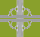 highway intersection poster