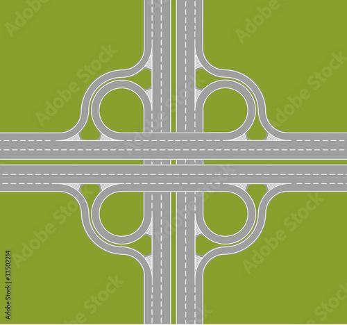 Foto op Plexiglas Op straat highway intersection