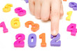 hand and  numbers shows future year 2012.