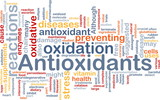 Antioxidants health background concept