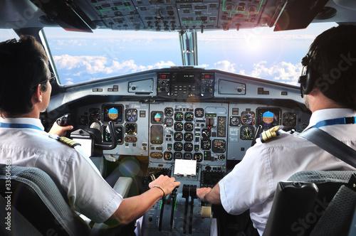 Leinwandbild Motiv pilotes d'avion