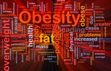 Obesity fat background concept glowing poster