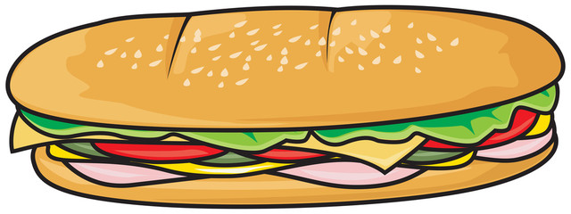 Fresh sandwich illustration