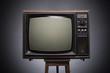 Leinwandbild Motiv Retro TV on a dark background.