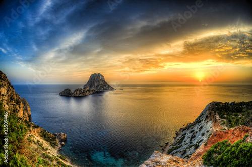 Leinwanddruck Bild Isla de es vedra en cala D hort - Ibiza