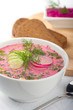 Cold beet soup with horseradish