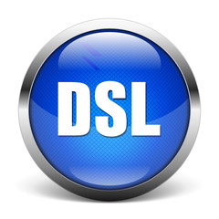 blue DSL icon