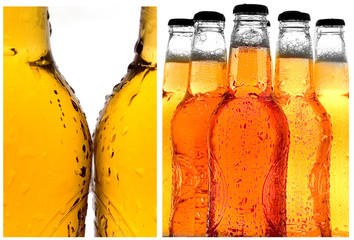 Cold beer isolated on white