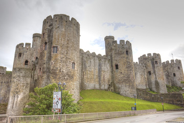 Historic Conwy Castle in Wales
