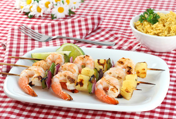 Barbecued Shrimp Kabobs
