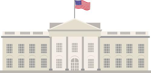 White House Building, Washington, vecor