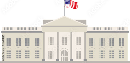 White House Building, Washington, vecor - 33517082
