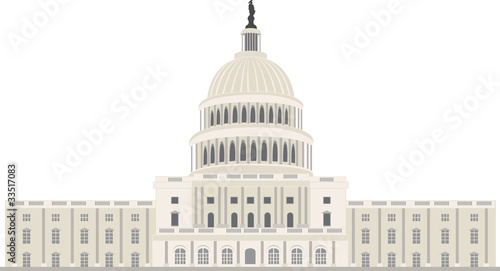 Capitol building in Washington, vector
